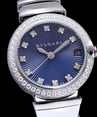 Bvlgari Lvcea Diamonds Automatic Watch for Women Blue