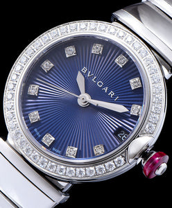 Bvlgari Lvcea Diamonds Automatic Watch for Women Blue - hn4us