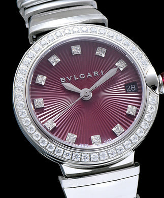 Bvlgari Lvcea Diamonds Automatic Watch for Women Purple