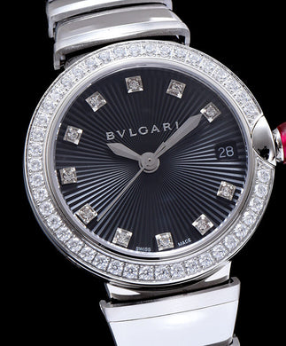 Bvlgari Lvcea Diamonds Automatic Watch for Women Black