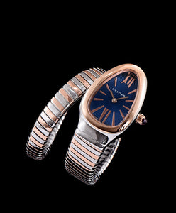 Bvlgari 18ct gold and stainless steel watch Blue