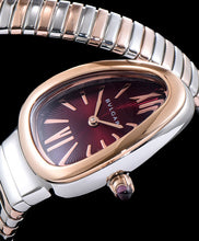 Bvlgari 18ct Gold And Stainless Steel Watch Red