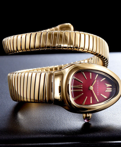 Bvlgari 18ct Gold Automatic Watch For Women Red