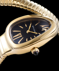 Bvlgari 18ct Gold Automatic Watch For Women Black - hn4us