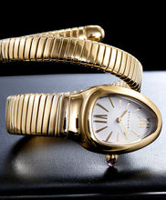 Bvlgari 18ct Gold Automatic Watch For Women White
