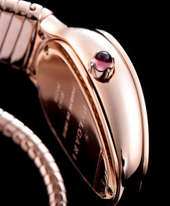Bvlgari Rose-Gold Automatic Watch For Women Red