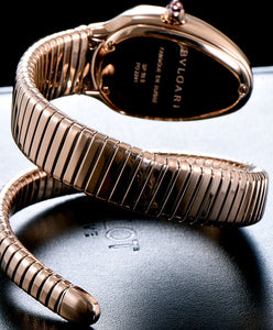 Bvlgari Rose-Gold Automatic Watch For Women Black