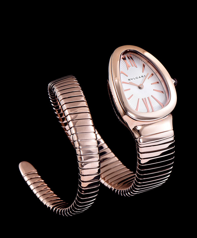 Bvlgari Rose-Gold Automatic Watch For Women White