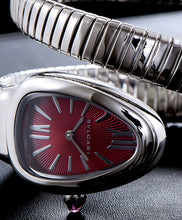 Bvlgari Stainless Steel Automatic Watch Red