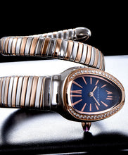 Bvlgari 18-Carat Pink-Gold And Steel Watch Blue