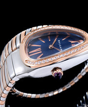 Bvlgari 18-Carat Pink-Gold And Steel Watch Blue - hn4us