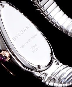 Bvlgari 18-Carat Pink-Gold And Steel Watch Red