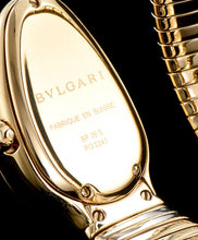 Bvlgari 18ct Gold And Diamond Watch Blue