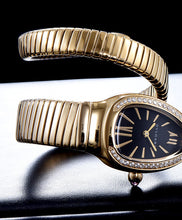 Bvlgari 18ct Gold And Diamond Watch Black