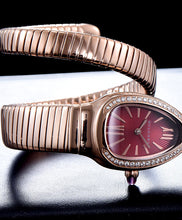 Bvlgari 18ct Rose-Gold And Diamond Watch Red