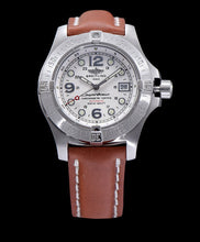 Breitling Women s stainless steel leather strap watch Brown