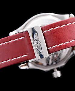 Breitling leather strap watch Red