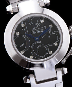 Cartier Automatic Watch For Women Black - hn4us