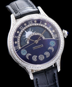 Cartier Stainless Steel Automatic Watch With Diamond Black