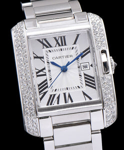 Cartier stainless steel Automatic diamond Watch White - hn4us