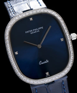 Patek philippe Blue dial diamond watch Blue