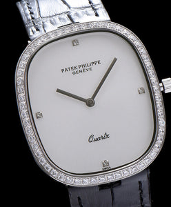 Patek philippe Blue dial diamond watch White
