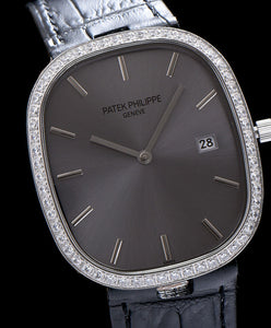 Patek Philippe sliver diamond watch for lady Black