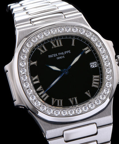 Patek Philippe stainless steel bracelet watch Black