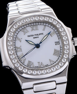 Patek Philippe stainless steel bracelet watch White