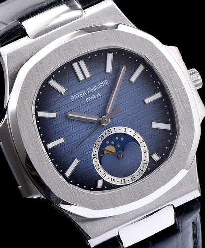 Patek Philippe Stainless Steel Watch For Men Blue