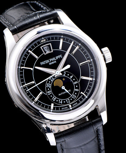 Patek Philippe Sliver Men s Watch Black