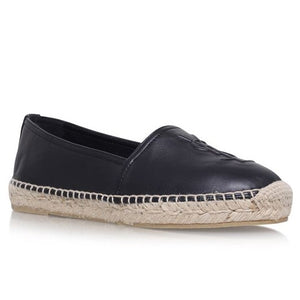 Saint Laurent Black Leather Espadrilles