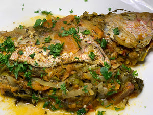 Stuffed & Baked Snapper (Read Description)