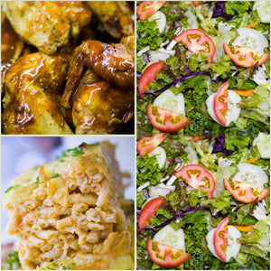 BBQ Chicken, Macaroni Pie & Tossed Salad