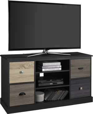 Dorel Home Mercer Range Black TV Console for Screen upto 50inch