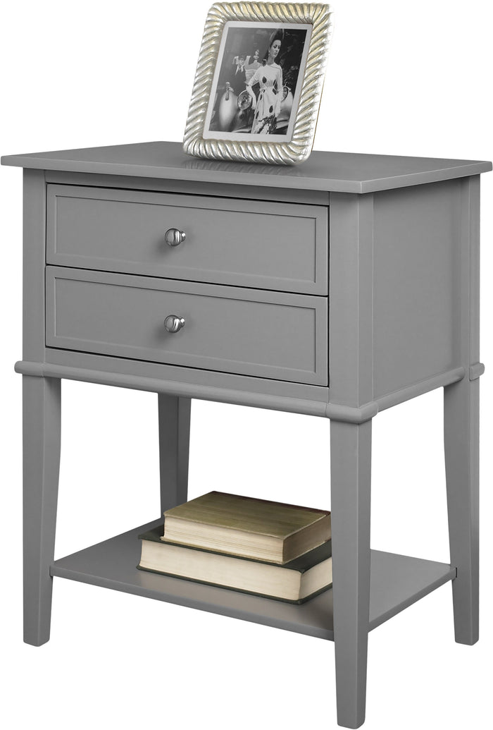 Dorel Home Franklin Range Accent Table in Grey