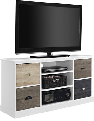 Dorel Home Mercer Range White TV Console for Screen upto 50inch