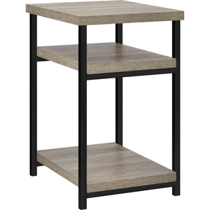 Dorel Home Elmwood Range End Table in Distressed Grey Oak