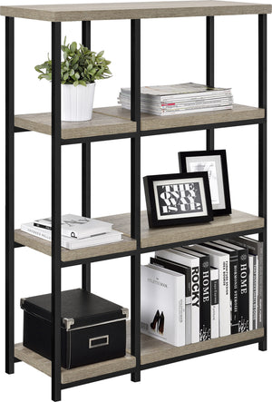 Dorel Home Elmwood Range Bookcase in Distressed Grey Oak