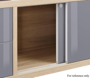 Maja Set+ Mobile Storage Unit in Natural Oak and White Glass (1674-2446)
