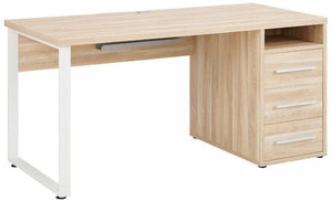 Maja Set+ 1500 Pedestal Desk in Natural Oak (1676-5524)