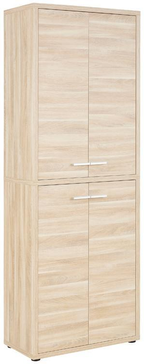 Maja Set+ Tall 4-Door Cupboard in Natural Oak (1686-5524)