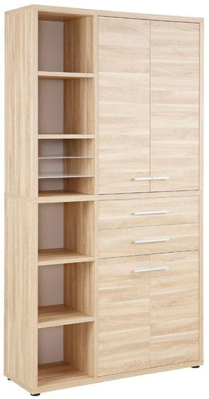 Maja Set+ Tall Storage Combi in Natural Oak (1688-5524)