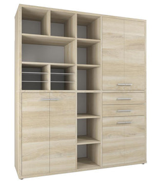 Maja Set+ Tall Maxi Storage Combi in Natural Oak (1692-5524)
