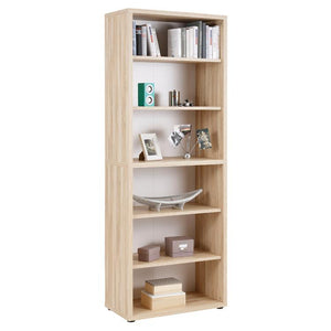 Maja Set+ Tall 6-Shelf Bookcase in Natural Oak (1697-5524)