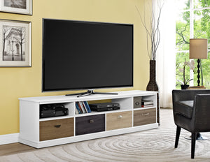 Dorel Home Mercer Range White TV Console for Screen upto 65 inch