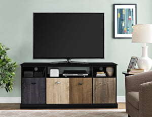 Dorel Home Mercer Range Black TV Console for Screen upto 60inch