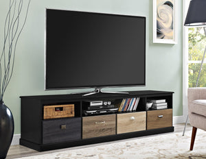 Dorel Home Mercer Range Black TV Console for Screen upto 65 inch