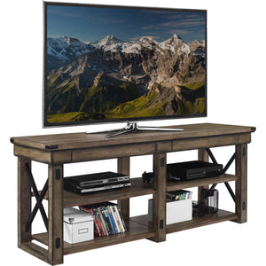 Dorel Home Wildwood Range Rustic Grey TV Stand for Screens upto 65inch