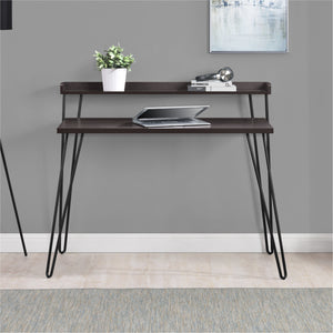Dorel Home Haven Retro Desk in Espresso